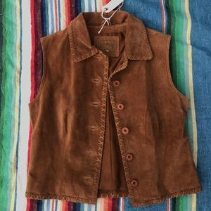 Jackets & Blazers - Saddle Ridge Leather Vest sz S